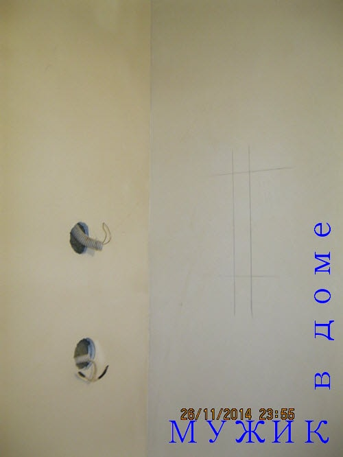 отверстия в стене под розетку