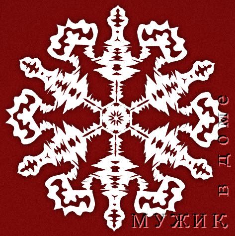 Схема новогодней снежинки 3