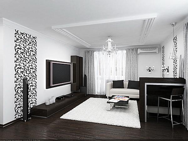 интерьер в черно-белом