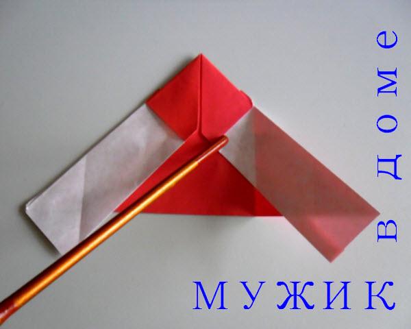 как делать оригами дед мороз