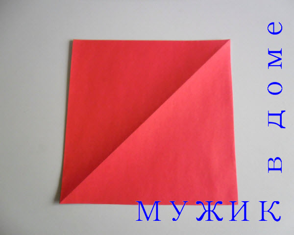 дед мороз из бумаги оригами