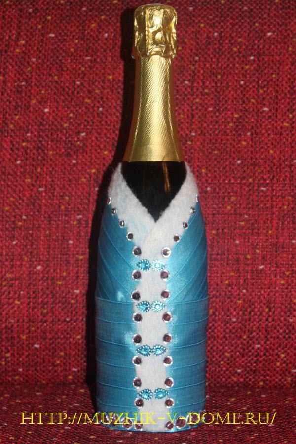 бутылка-снегурочка на новый год