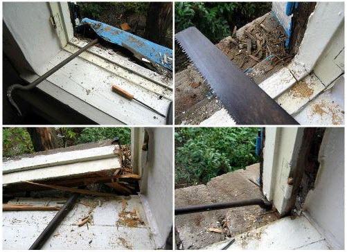 демонтаж старых деревянных окон