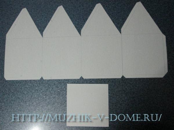 как делать домик из бумаги схема