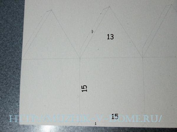 рисуем схему для домика из бумаги