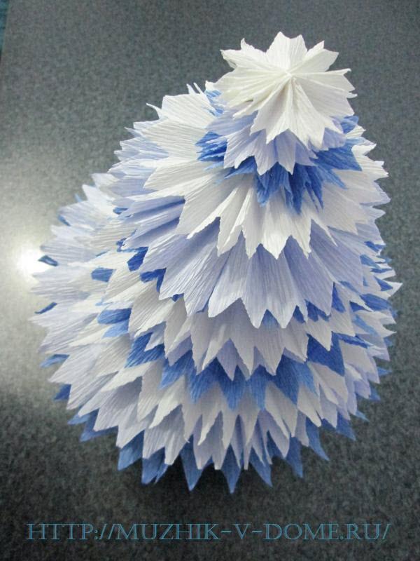 3д объемная елка из бумаги своими руками