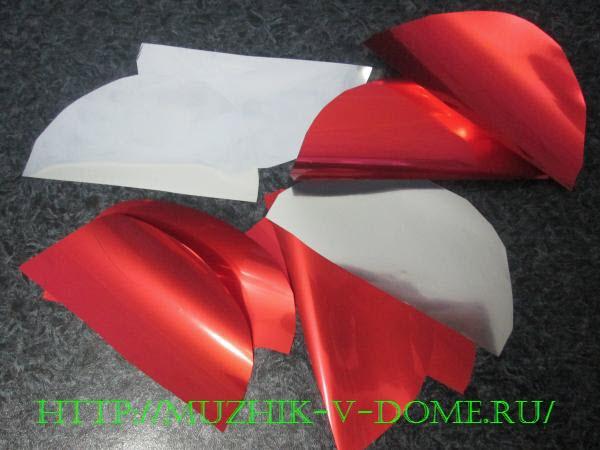 Заготовки для елочного шара из конусов на новый год