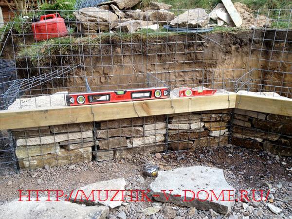 строительство габиона на даче своими руками