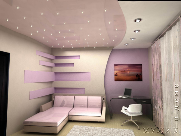 Потолок из гипсокартона как сделать самостоятельно