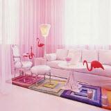 интерьер в оттенках розового цвета