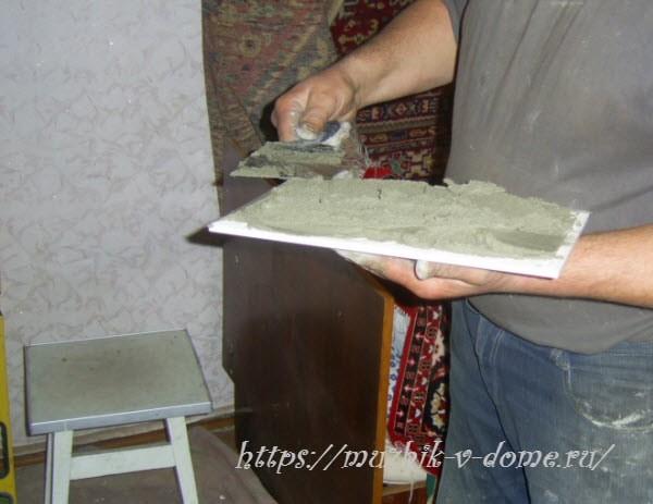 как обложить печь плиткой кафелем правиьно