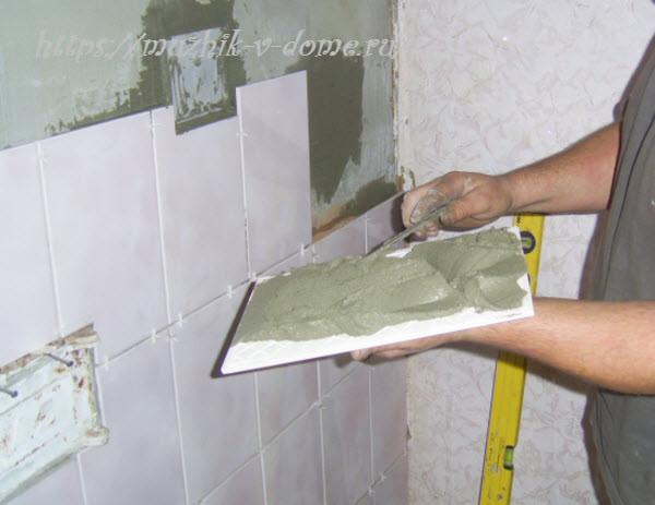 как отделать печь плиткой своими руками