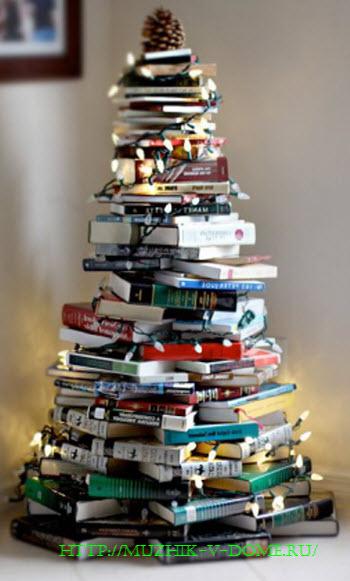 Как сделать елку из книг своими руками на рождество