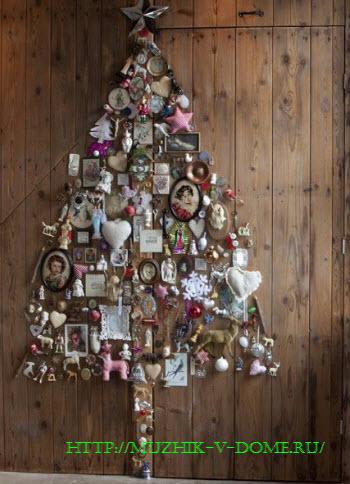 Как сделать новогоднюю елку из подручных материалов своими руками