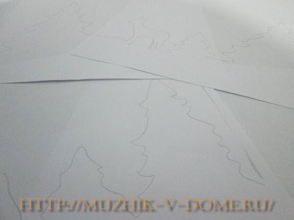 композиция из елок рисунок