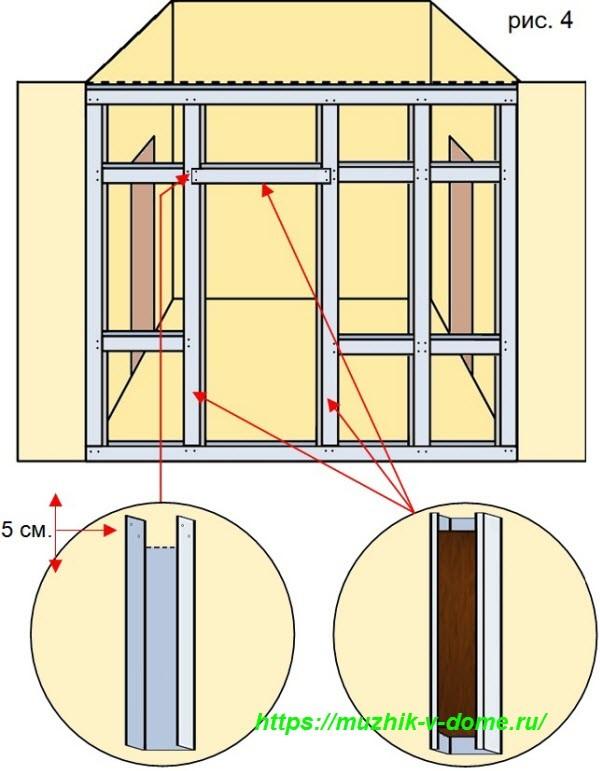 Как сделать перегородку между комнатами своими руками