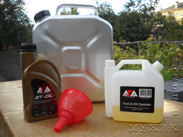 В каком соотношении смешивать бензин с маслом