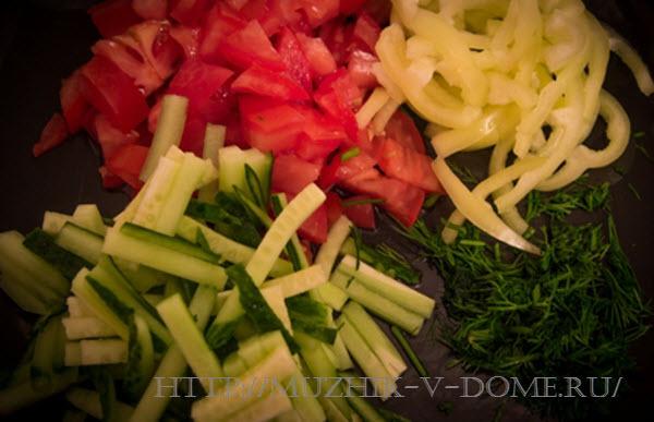 Овощи для шаурмы