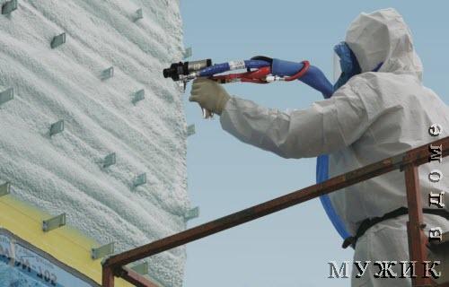 наружное утепление пенополиуретаном стен здания