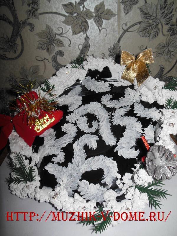 декорируем новогоднее блюдо