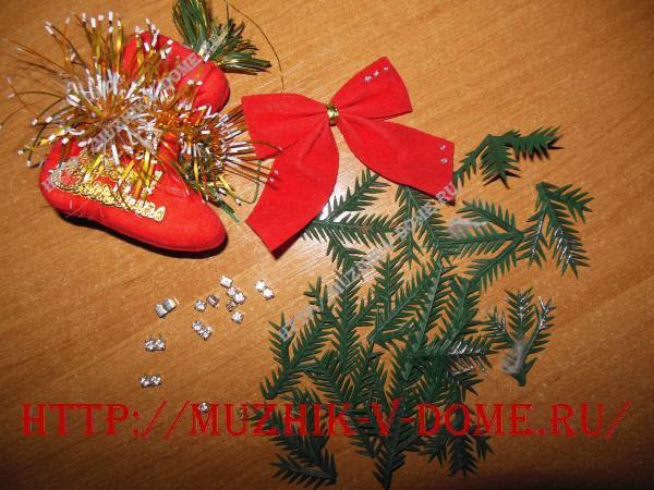 Материал для декорирования новогоднего блюда из старой музыкальной пластинки своими руками