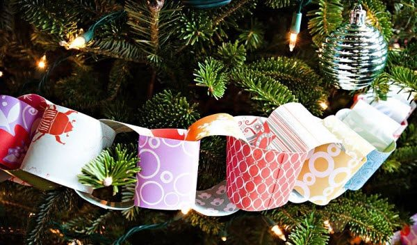 Новогодние поделки своими руками гирлянда из бумаги
