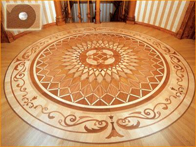 пол выложенный мозаичной плиткой