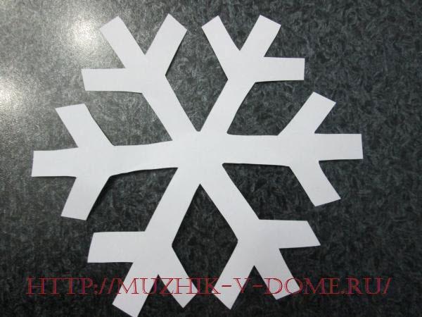 форма основы для объемной снежинки