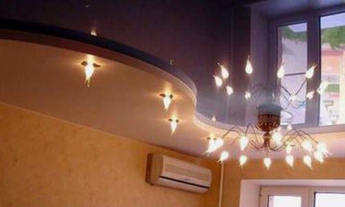 лампочки на натяжные потолки