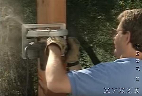 установка столбов своими руками