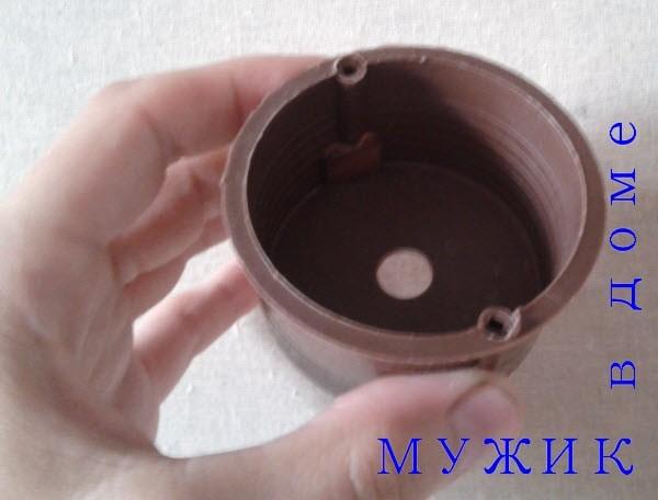 пластмассовая круглая коробка