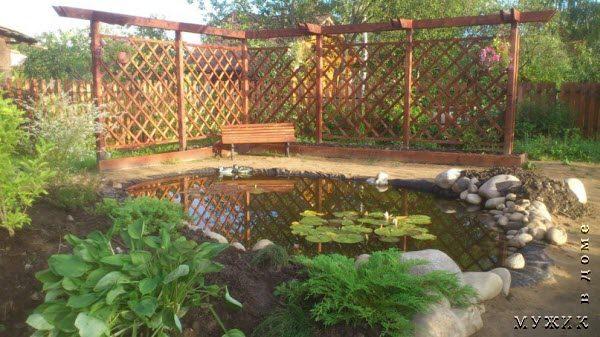 пруд в саду своими руками с гидроизоляционной пленкой