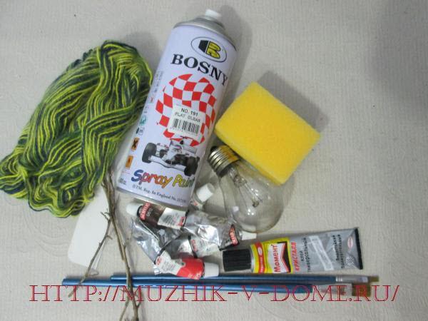 материалы для изготовления елочной игрушки снеговика своими руками