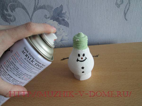 поделка снеговик на новый год