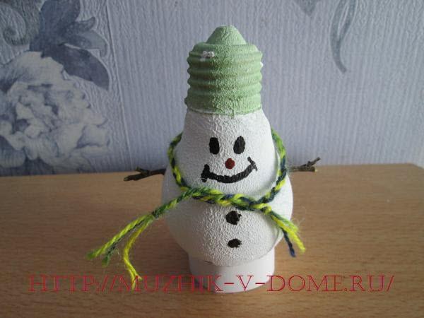 новогодняя поделка игрушка снеговик своими руками