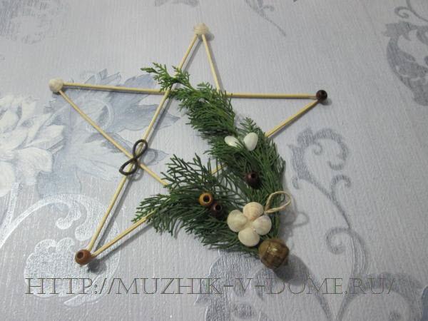 поделка звезда своими руками на новый год