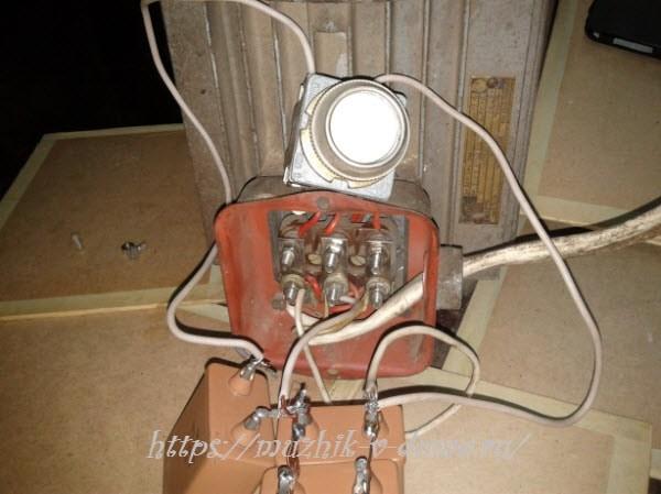 подключение двигателя трехфазного с 220 вольт