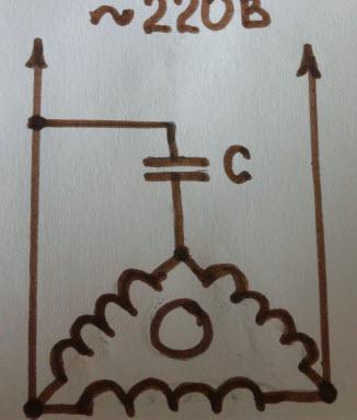 подключение в «треугольник» схема