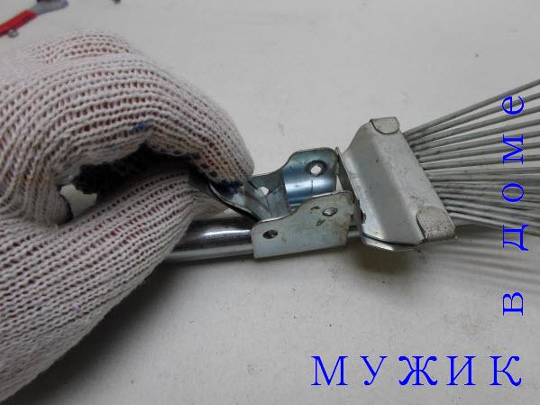 ремонт веерных граблей своими силами