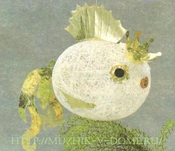 рыбка из ниток