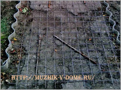 опалубка для заливки садовой дорожки из бетона