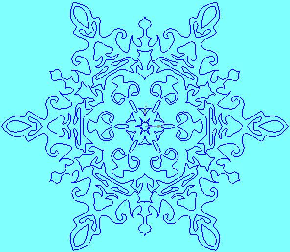 Шаблон снежинка из бумаги схема
