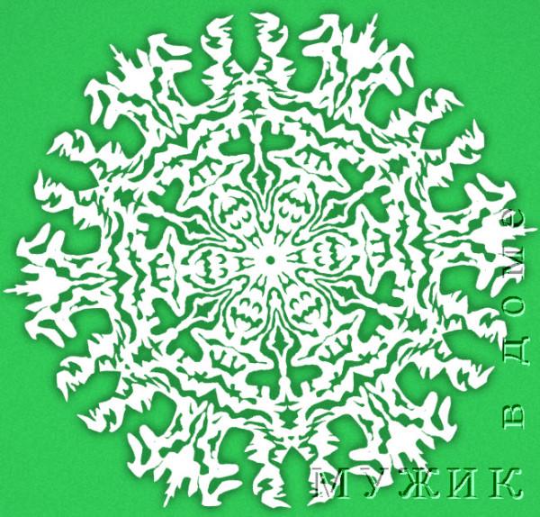 схема снежинка из бумаги
