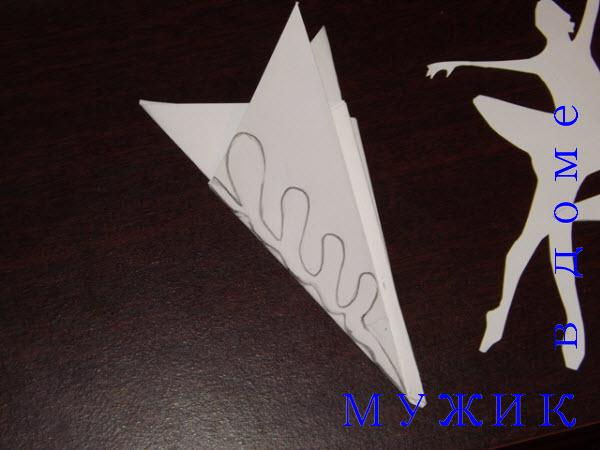 снежинка балерина схема вырезания