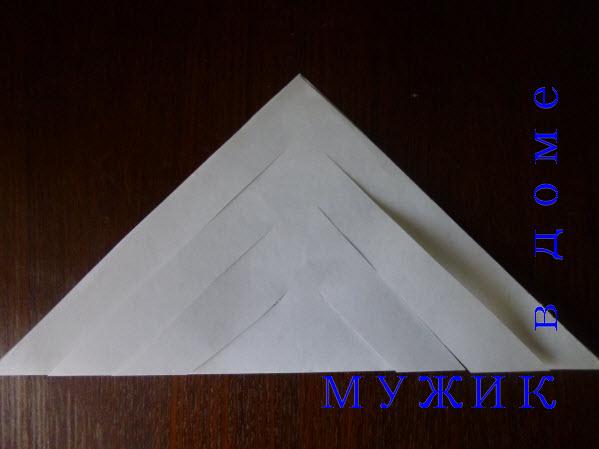 как сделать оригами снежинку
