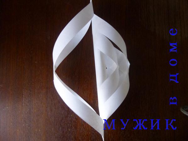 снежинка оригами из бумаги