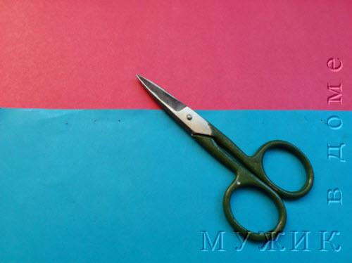 Ножницы и цветная бумага