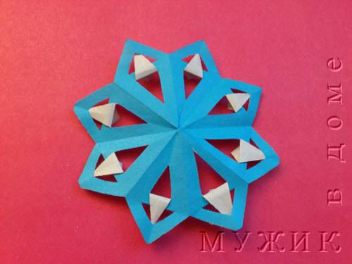 Поделки с детьми новогодние снежинки из цветной бумаги