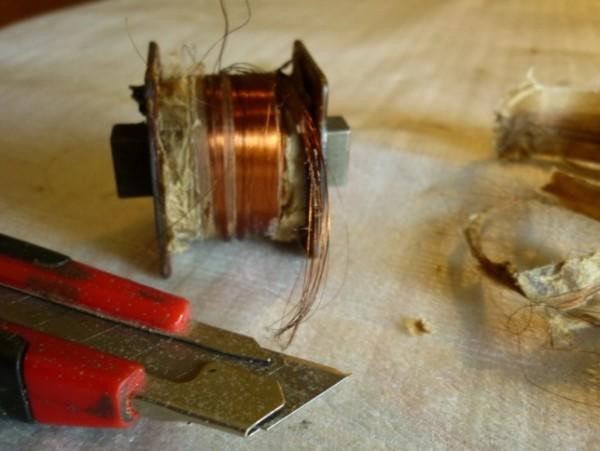 Замена катушки магнето