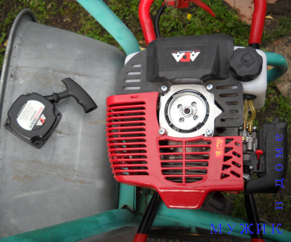 Ремонт стартера бензинового мотобура Ada GroundDrill-5